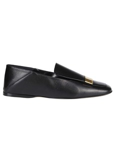 Sergio Rossi Black Leather Flat Shoes