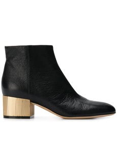 Sergio Rossi contrast heel ankle boots