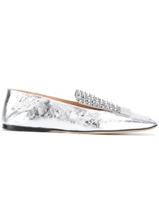 Sergio Rossi embellished loafers - Metallic