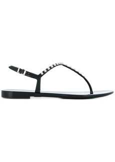 Sergio Rossi embellished thong sandals