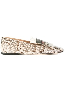 Sergio Rossi fringed loafers - Nude & Neutrals