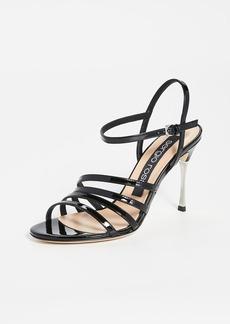 Sergio Rossi Godiva Steel Sandals