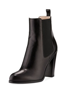 Sergio Rossi Gored Leather High Bootie