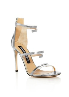 Sergio Rossi Karen Triple Strap Illusion High-Heel Sandals