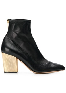 Sergio Rossi metallic heel ankle boots