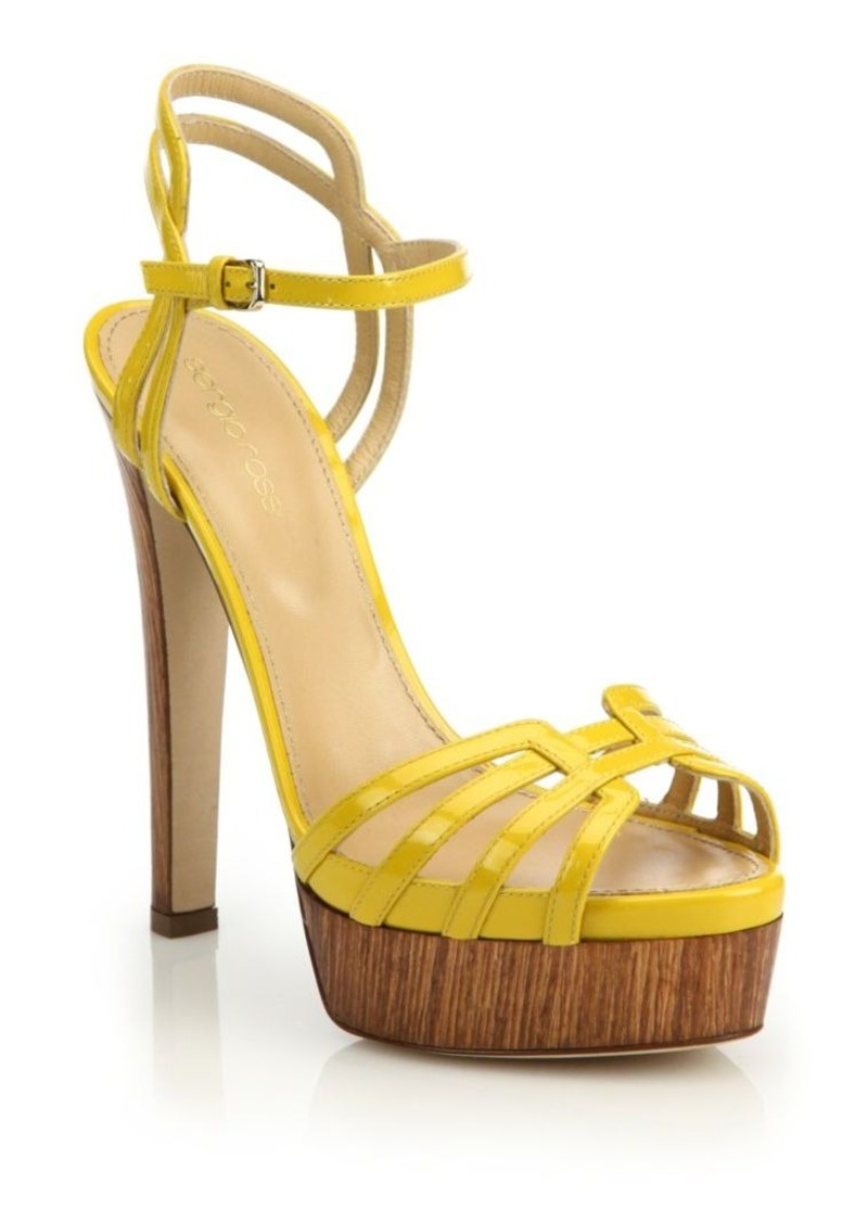 Sergio Rossi Paloma Patent Sandals