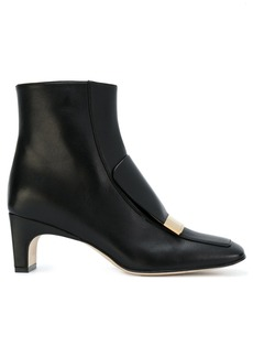 Sergio Rossi plaque applique boots - Black