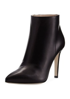 Sergio Rossi Point-Toe 100mm Leather Bootie