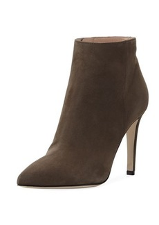 Sergio Rossi Point-Toe 100mm Suede Bootie