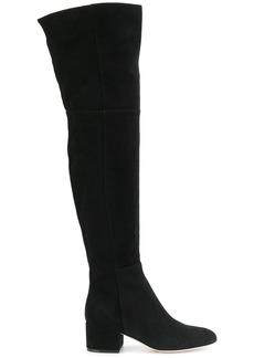 Sergio Rossi side zip knee boots - Black