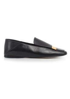 Sergio Rossi Slippers Leather W/gold Plate