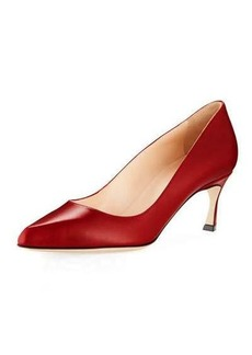Sergio Rossi Smooth Leather Low-Heel Pump