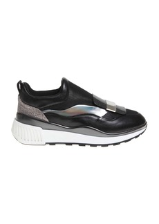 Sergio Rossi Sneakers Sr1 Running In Leather And Fabric