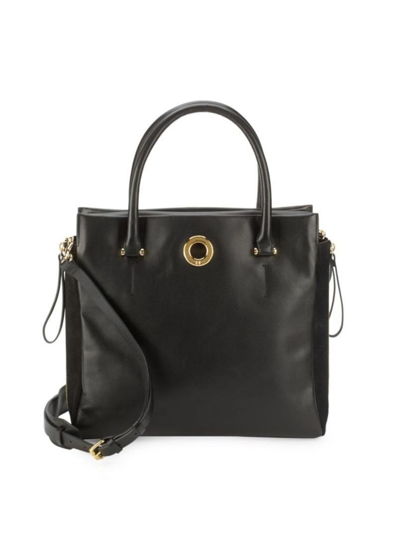 09937102e6 Halston Heritage Halston Heritage Solid Leather Tote Bag