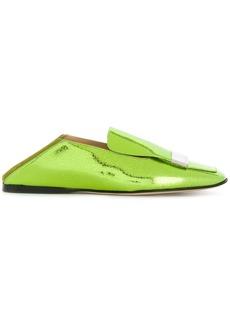 Sergio Rossi square toe loafers - Green