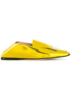 Sergio Rossi square toe loafers - Metallic