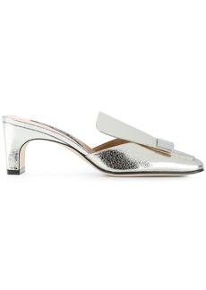 Sergio Rossi square toe mules - Metallic