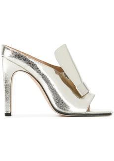 Sergio Rossi sr1 heeled mules - Metallic