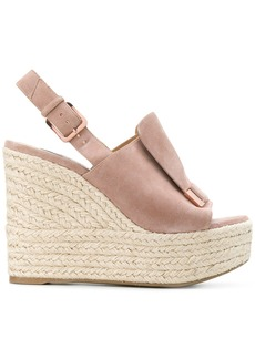 Sergio Rossi SR1 wedge sandals - Nude & Neutrals
