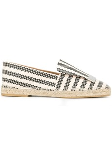 Sergio Rossi striped espadrilles - White