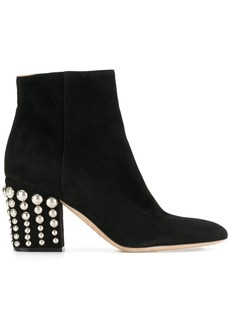 Sergio Rossi studded heel ankle boots