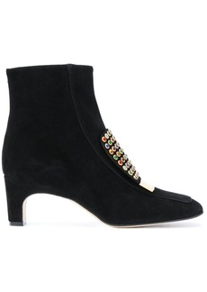 Sergio Rossi studded trim boots - Black
