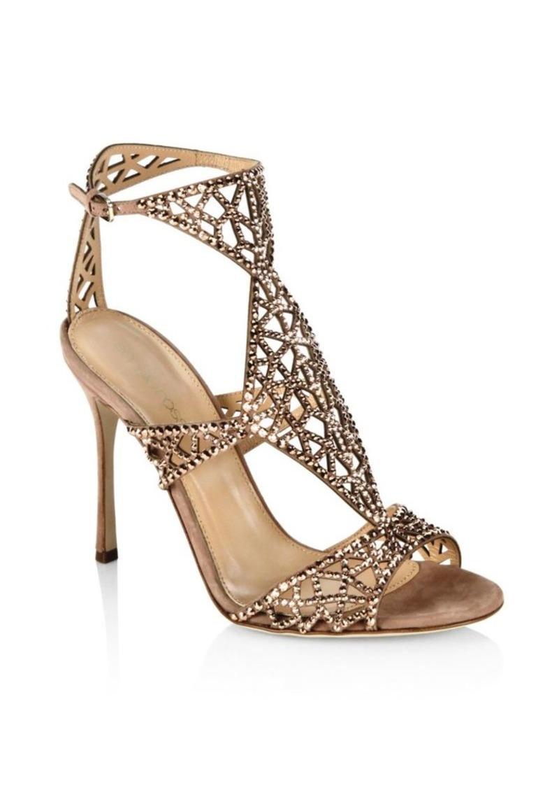 90a92346f Sergio Rossi Sergio Rossi Tresor Swarovski Crystal and Suede Sandals ...