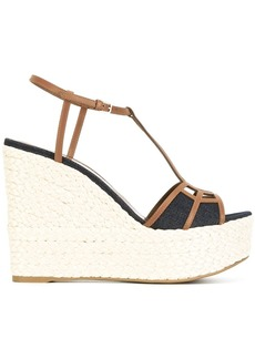 Sergio Rossi wedged sandals - Brown
