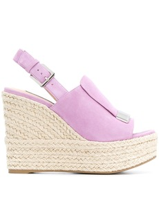 Sergio Rossi wedged sandals - Pink & Purple