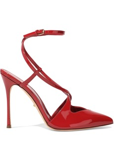 Sergio Rossi Woman Bon Ton Patent-leather Pumps Crimson