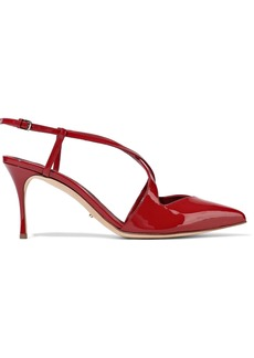 Sergio Rossi Woman Bon Ton Patent-leather Slingback Pumps Crimson