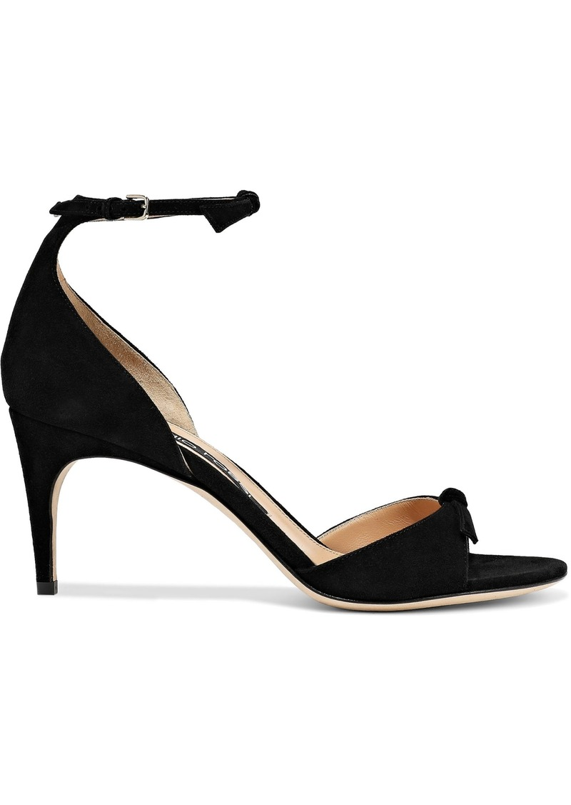 Sergio Rossi Woman Bow-embellished Suede Sandals Black