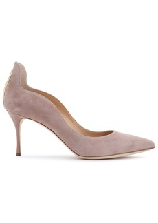 Sergio Rossi Woman Cutout Suede Pumps Blush