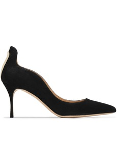 Sergio Rossi Woman Cutout Suede Pumps Black