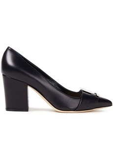 Sergio Rossi Woman Embellished Leather Pumps Black