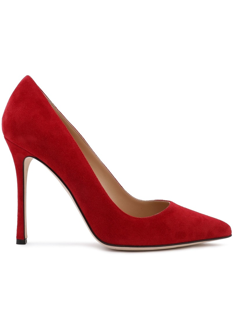 Sergio Rossi Woman Godiva Suede Pumps Red
