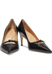 Sergio Rossi Woman Isobel Cutout Knotted Leather Pumps Black