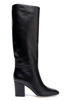 Sergio Rossi Woman Leather Knee Boots Black