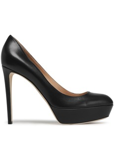 Sergio Rossi Woman Leather Platform Pumps Black