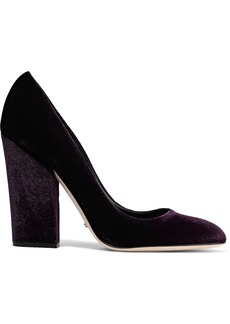 Sergio Rossi Woman Linda Velvet Pumps Dark Purple