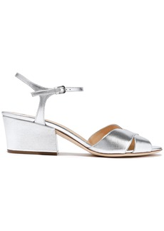 Sergio Rossi Woman Metallic Leather Sandals Silver