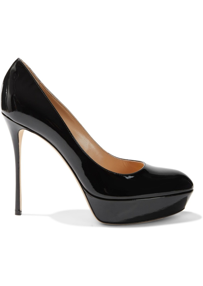 Sergio Rossi Woman Patent-leather Platform Pumps Black