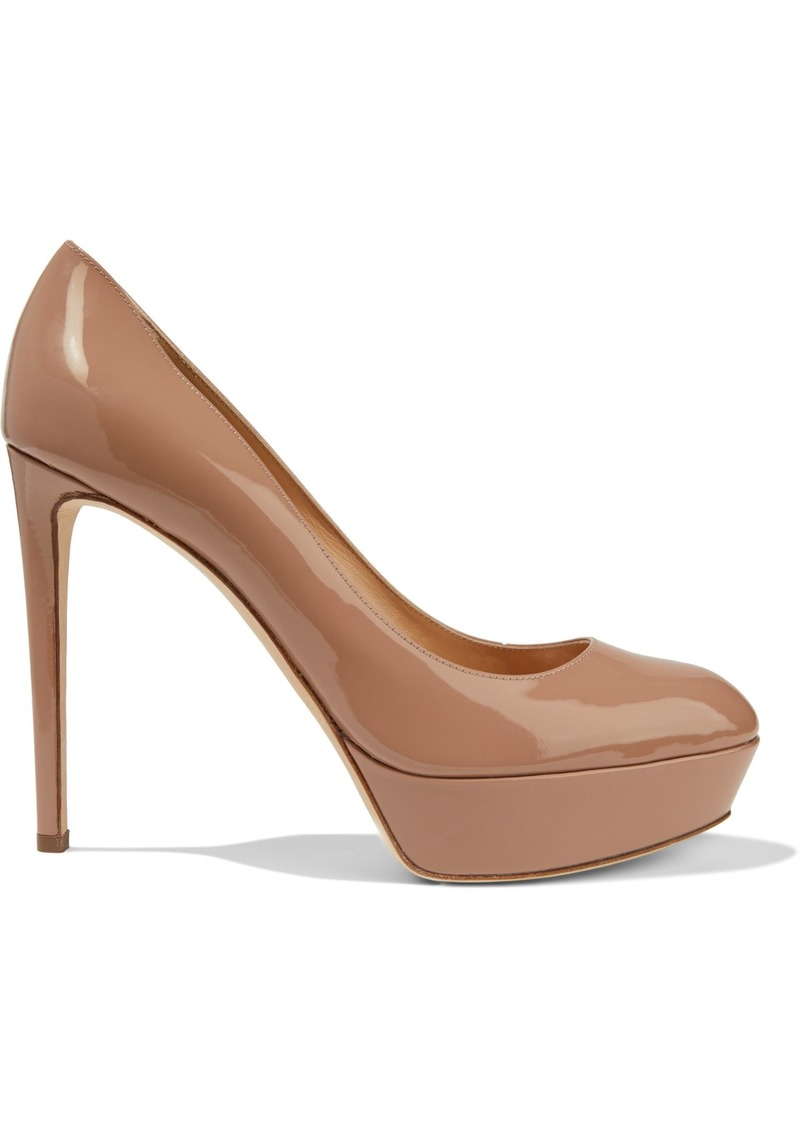 Sergio Rossi Woman Patent-leather Platform Pumps Neutral