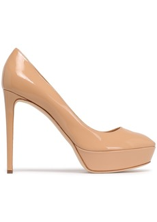 Sergio Rossi Woman Patent-leather Platform Pumps Neutral