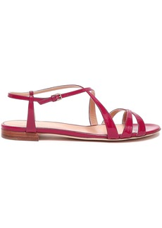 Sergio Rossi Woman Patent-leather Sandals Plum