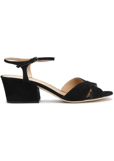 Sergio Rossi Woman Royal Suede Sandals Black