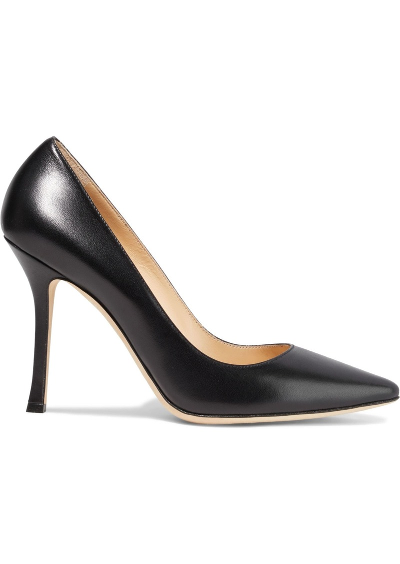 Sergio Rossi Woman Secret Leather Pumps Black