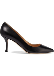 Sergio Rossi Woman Secret Textured-leather Pumps Black