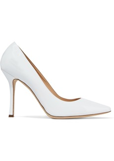 Sergio Rossi Woman Secret Patent-leather Pumps White