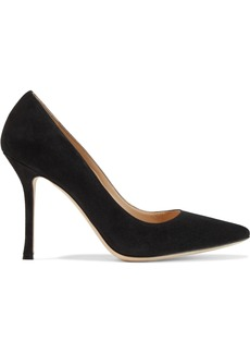 Sergio Rossi Woman Secret Suede Pumps Black
